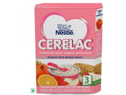 Nestle Cerelac - Wheat Mixed Fruit (Stage 3), 300 gm Carton