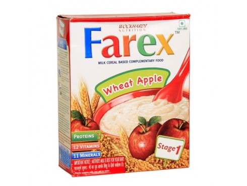 Farex Milk Cereal Based Complementary Food - Wheat Apple (Stage 1), 400 gm Carton