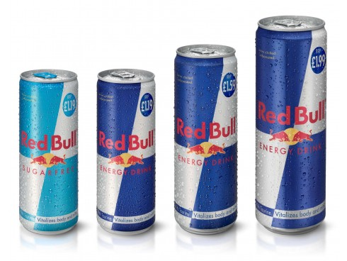RED BULL BLUE AND SILVER 250ML X 4 CAN
