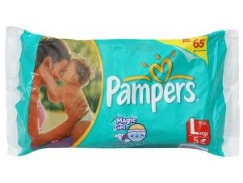 PAMPER DIAPER LARGE 5'S