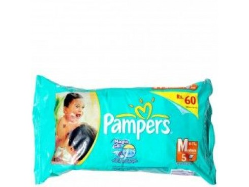 PAMPER DIAPER MEDIUM 5'S