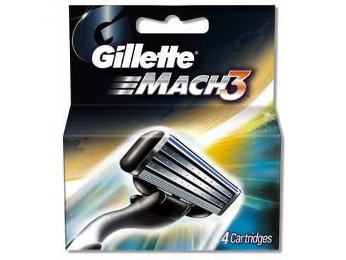 GILLETTE MACH3 RAZOR BLADE CARTRIDGES 4S
