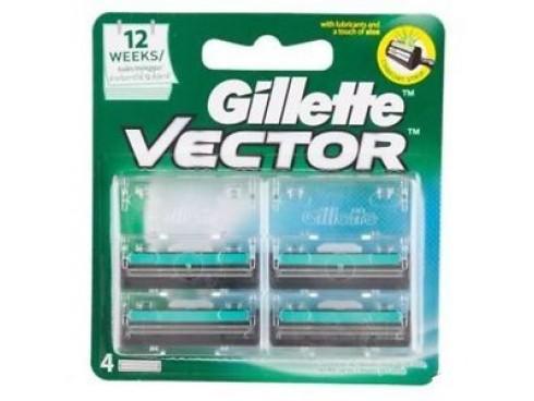 GILLETTE VECTOR RAZOR BLADE CARTRIDGES 4S