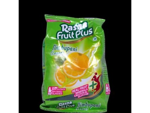 RASNA FRUIT PLUS 200GM POUCH NIMBUPANI