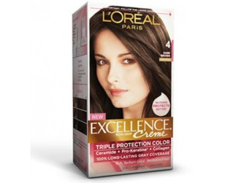 L'OREAL EXCELLENCE HAIR COLOUR 4 DARK BROWN
