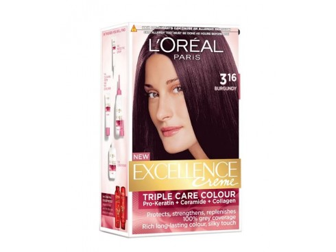 L'OREAL EXCELLENCE HAIR COLOUR 3.16 BURGUNDY