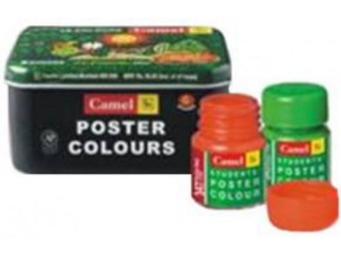 CAMLIN POSTER COLOURS 10 ML 6 SHADES BOX