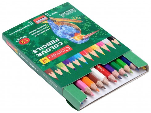 CAMLIN COLOUR PENCILS 12 SHADES BOX