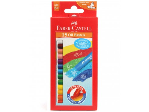 FABER CASTELL OIL PASTELS 15 SHADES PACK