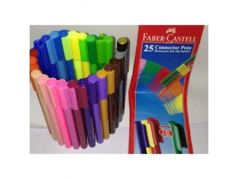 FABER CASTELL CONNECTOR PENS SET OF 25