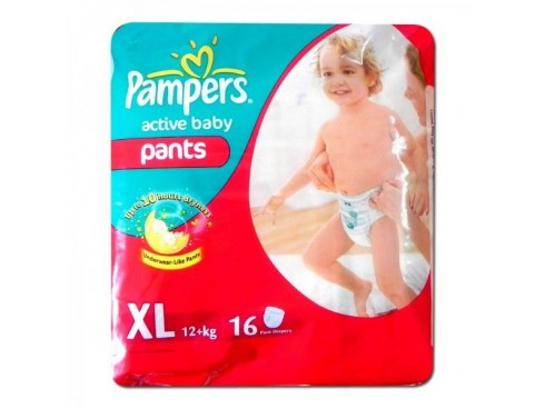 PAMPERS ACTIVE BABY XTRA LARGE 16'S