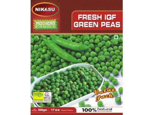 NIKASU FRESH GREEN PEAS 500GM