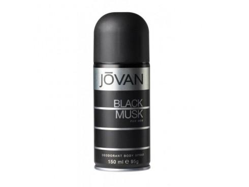 JOVAN BLACK MUSK MENS DEO BODY SPRAY 150ML
