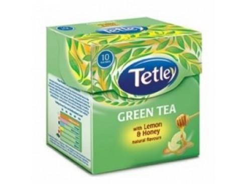 TETLEY GREEN LEMON HONEY TEA BAG 30S