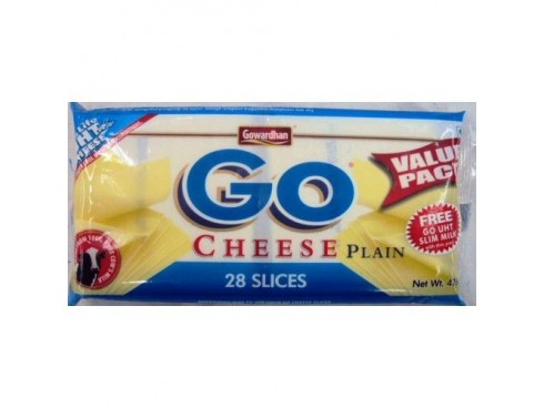 GOWARDHAN GO CHEESE SLICE PLAIN 476 GM
