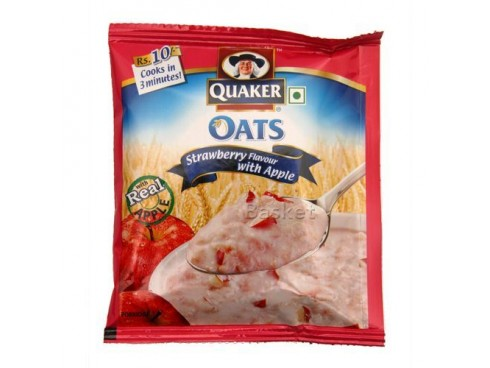 QUAKER OATS STRAW FLAVOR WITH APPLE 26GM