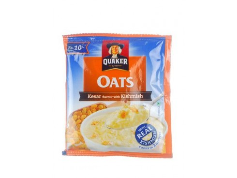 QUAKER OATS KESAR FLAVOUR WITH KISHMIS 26GM