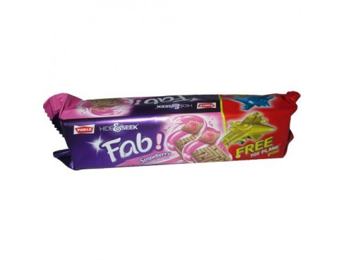 PARLE HIDE& SEEK FAB STRAWBERRY BISCUIT 100GM