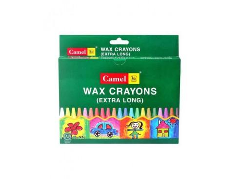 CAMLIN EXTRA LONG WAX CRAYONS 13 SHADES PACK