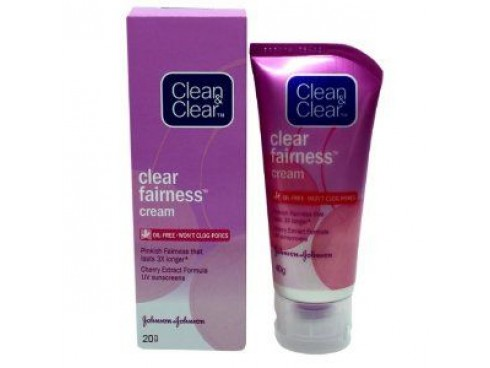 JOHNSON'S CLEAN & CLEAR CLEAR FAIRNESS CREAM 20GM