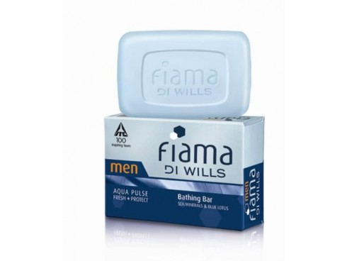 FIAMA DI WILLS IDEAL FOR MEN AQUA NIGHTS BATHING SOAP 100GM