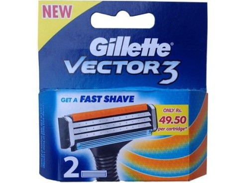 GILLETTE VECTOR3 RAZOR BLADE CARTRIDGES 2S