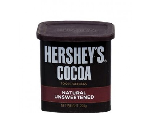 HERSHEY'S COCOA NATURAL UNSWEETENED 225GM