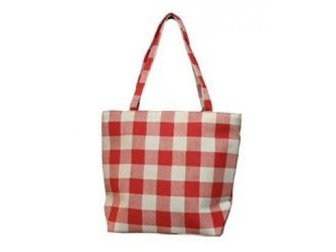 LADIES TOTES (RED CHECK)