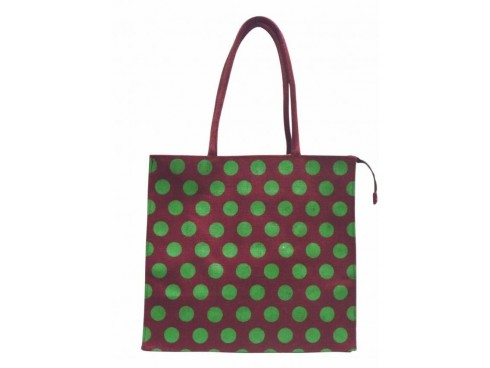 LADIES TOTES (GREEN DOTS)