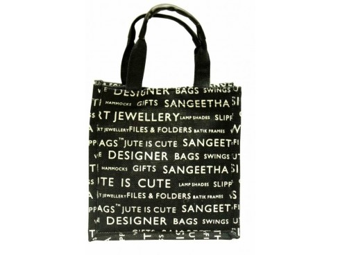 DESIGNER TIFFING BAG (BLACK & WHITE)