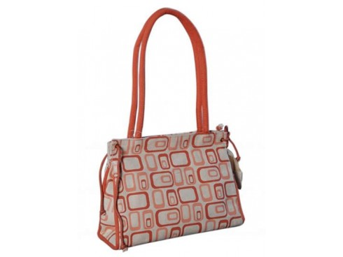 DESIGNER LADIES HANDBAG (RED SQUARE)