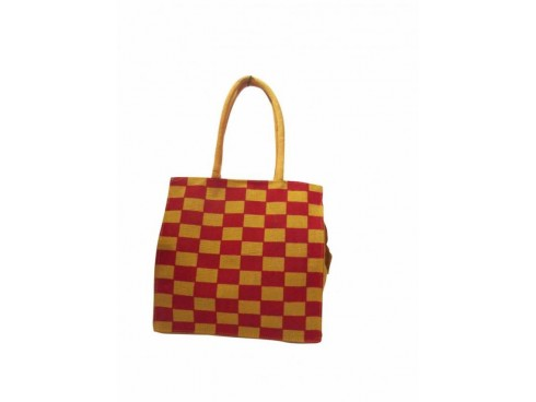 DESIGNER TOTES (RED-GOLD CHESS)