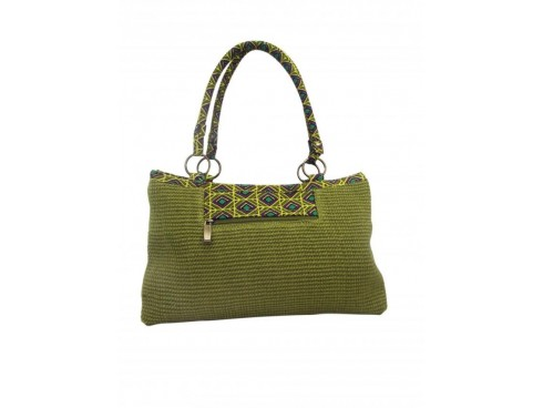 LADIES HANDBAG WITH DOBY RING (GREEN)