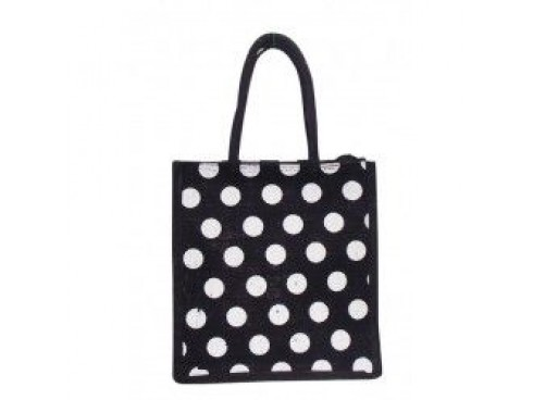 DESIGNER TIFFIN BAG ( WHITE DOTS)