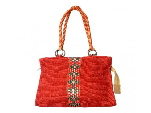 CLASSIC DESIGNER LADIES HANDBAG FB-10 (RED)