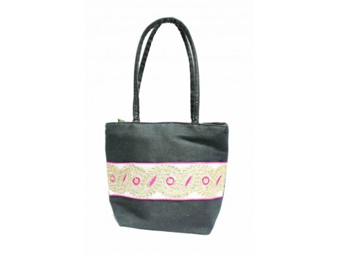 LADIES TOTES FB-18 (BLACK & WHITE)