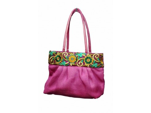 FLORAL DESIGN LADIES HANDBAG FB-36 (PINK)