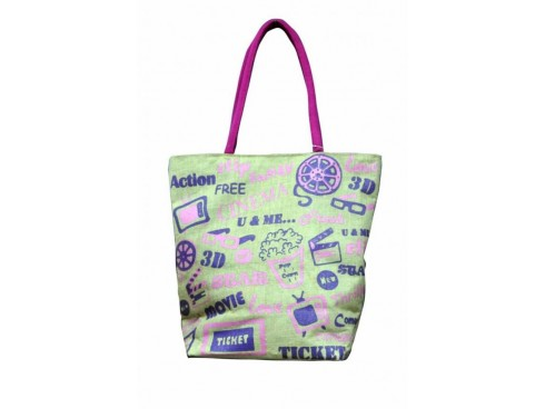 TRENDY LADIES TOTES FB-42 (PURPLE PRINT)