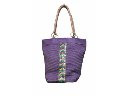 DESIGNER LADIES TOTES FB-43 (PURPLE)