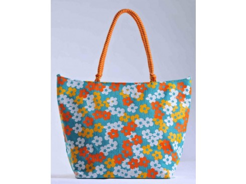 DESIGNER LADIES TOTES FB-48  (MULTICOLOUR FLORAL PRINT)