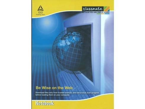 ITC CLASSMATE SINGLE LINE INTERLEAF NOTE BOOK HARD BIND SCHOOL SIZE 172 PAGES