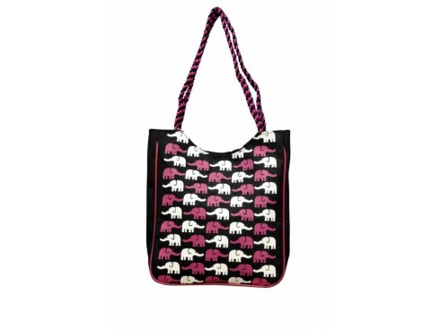 DESIGNER LADIES TOTES J-02 (MULTICOLOUR WITH ELEPHANT DESIGN)