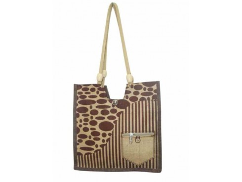 UNIQUE DESIGN LADIES TOTES LB-08 (BROWN PATTERN)