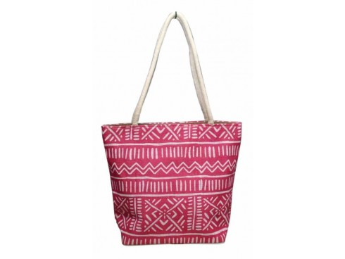 DESIGNER LADIES TOTES WITH DESIGN PRINT (PINK)
