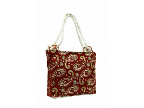 LADIES TOTES LB-120 (RED WITH MULTICOLOUR DESIGN)