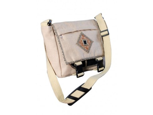 DESIGNER LADIES MESSENGER BAG LB-43  (CREAM)