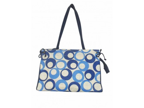 DESIGNER HANDBAG LB-50 (DARK & LIGHT BLUE DESIGN)