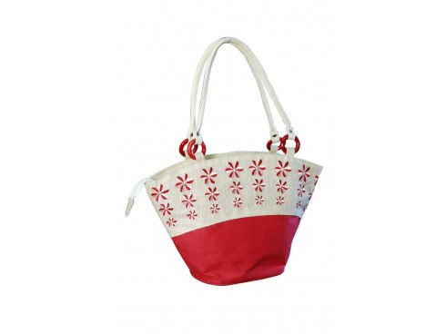 DESIGNER LADIES HANDBAG LB-72 (WHITE & RED)