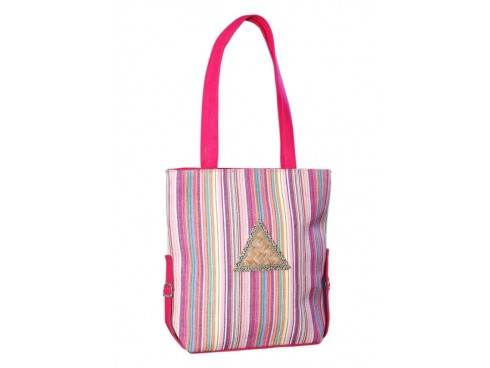 DESIGNER LADIES TOTES LB-80 (PINK & PURPLE)