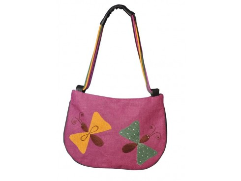 BUTTERFLY DESIGN LADIES HANDBAG LB-87 (PINK)